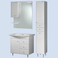 Комплект мебели Aqualife Design Осло 60 с 3/ящиками с корзиной c умывальником Церсания 60