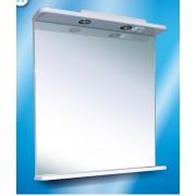 Зеркало с полочкой и подсветкой №1-75 Ф4