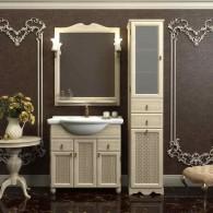 Комплект мебели для ванной комнаты ТИБЕТ 80 Opadiris (белый)