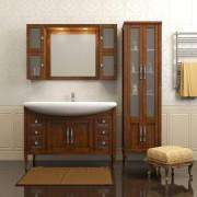 Комплект мебели для ванной комнаты МИРАЖ 120 (массив бука)