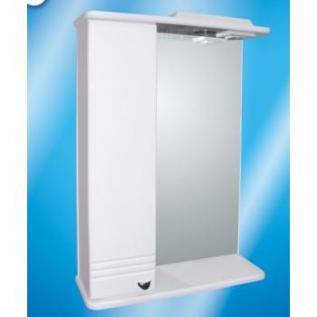 Зеркальный шкаф со светильником №3-55 Ф1 L/R