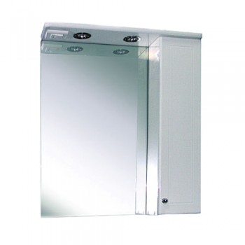 Зеркальный шкаф с подсветкой №2 65 Ф1 (правый)