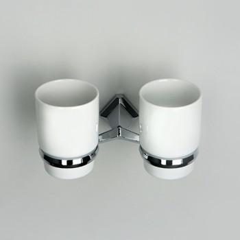 Подстаканник двойной керамический WasserKRAFT Aller К-1100 арт.K-1128DC