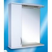 Зеркальный шкаф со светильником  №3-65 Ф3 (белый)