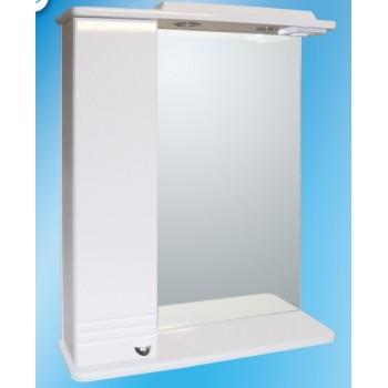 Зеркальный шкаф со светильником  №3-65 Ф1 (левый)