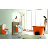 Цветной Унитаз- моноблок Laguraty 2310 (orange)