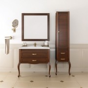Комплект мебели для ванной комнаты ФРЕСКО 80 Opadiris (светлый орех с патиной)