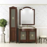 Комплект мебели для ванной комнаты ВИКТОРИЯ 90 Opadiris (массив бука, мрамор)