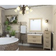 Комплект мебели для ванной комнаты ГАРДА 90 (бьянко, золотая патина)