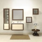 Комплект мебели Капри 90 (белый глянец, нагал) Opadiris
