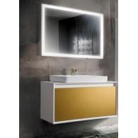 Комплект мебели для ванной комнаты Валенсия 90 (белый/золото) BELUX