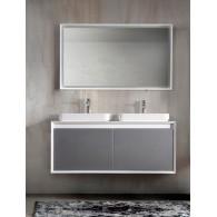 Комплект мебели для ванной комнаты Валенсия 120 (белый/серый) BELUX