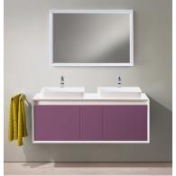 Комплект мебели для ванной комнаты Валенсия 120 (белый/лиловый) BELUX
