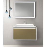Комплект мебели для ванной комнаты Валенсия 90 (белый/шоколадный) BELUX