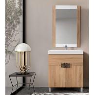 Комплект мебели для ванной комнаты Бильбао 75 BELUX (дуб/санома)