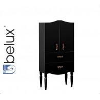 Шкаф Бари П 60-02 BELUX (черный/матовый, черный/глянец)