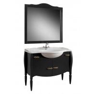 Комплект мебели для ванной комнаты Бари 105 BELUX (черный/матовый, черный/глянец)
