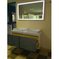 Комплект мебели для ванной комнаты Валенсия 120 (белый/шоколад) BELUX