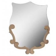Зеркало Вена В 90 BELUX (дуб молочный, шпон/массив)