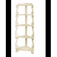 Шкаф - пенал угловой Вена 60 (слоновая кость/матовый) BELUX