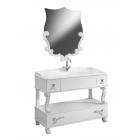 """Комплект мебели для ванной комнаты Вена 105 (белый/матовый) BELUX с умывальником """"Клевер -110"""""""