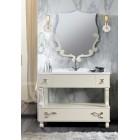 """Комплект мебели для ванной комнаты Вена 105 (слоновая кость/матовый) BELUX с умывальником """"Клевер - 110"""""""