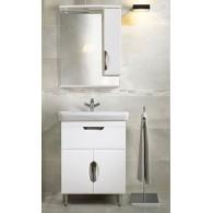 """Комплект мебели для ванной комнаты Венеция 55-01 (белый) BELUX с умывальником """"Милан - 55"""""""