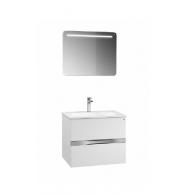 """Комплект мебели для ванной комнаты Вергина 60 (белый/серый перламутр) BELUX с умывальником """"Севилья - 60"""""""