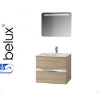 """Комплект мебели для ванной комнаты Вергина 60 (дуб санома) BELUX с умывальником """"Севилья - 60"""""""