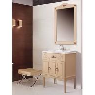 """Комплект мебели для ванной комнаты Верди Н 85 (слоновая кость/золотая патина) BELUX с умывальником """"Клевер 85"""""""