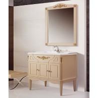 """Комплект мебели для ванной комнаты Верди Н 105 (слоновая кость/золотая патина) BELUX с умывальником """"Клевер 105"""""""