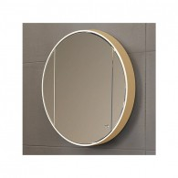 Шкаф навесной зеркальный Версаль ВШ 81 (бежевый/глянец) BELUX