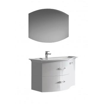 """Комплект мебели для ванной комнаты Версаль 120 (белый/глянец) BELUX с умывальником """"Версаль - 120"""""""