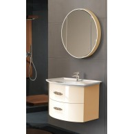 """Комплект мебели для ванной комнаты Версаль 90 (бежевый/глянец) BELUX с умывальником """"Версаль - 90"""""""