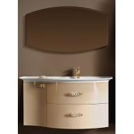 """Комплект мебели для ванной комнаты Версаль 90 (бежевый/глянец) BELUX с умывальником """"Версаль - 120"""""""