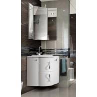 """Комплект мебели для ванной комнаты Дали 58-2 (белый/глянец) BELUX с умывальником """"Дали 580"""""""