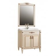 """Комплект мебели Империя 85 (37 - слоновая кость/патина золото) BELUX с умывальником """"Клевер 85"""""""