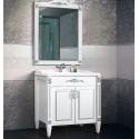 """Комплект мебели Империя 85 (64 - белый матовый/патина серебро) BELUX с умывальником """"Клевер 85"""""""