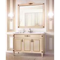 """Комплект мебели Империя 105 (37 - слоновая кость/патина золото) BELUX с умывальником """"Клевер 105"""""""