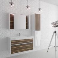 Комплект мебели Белль/Belle EFP 100 (белый с макассаром)