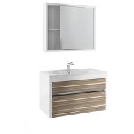 Комплект мебели Белль/Belle EFP 80 (белый с макассаром)