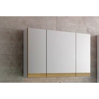 Шкаф зеркальный EFP Маджика/Magica 80 белый с дубом