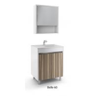 Комплект мебели Белль/Belle EFP 61 (белый с макассаром)
