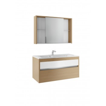 Комплект мебели УНИКА/UNICA EFP 80 белый с дубом гальяно