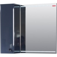 Шкафчик зеркальный EDELFORM NOTA / Нота 75 (черный, глянец)