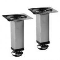 Ножки для мебели EDELFORM квадратные, хром 200 мм