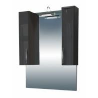 Шкаф зеркальный Edelform Соло-III 76, серый