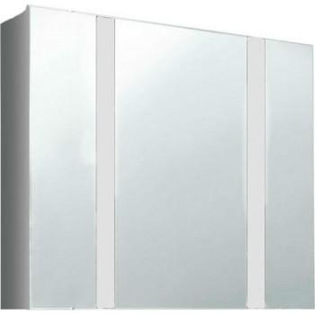 Шкафчик зеркальный со светильником Edelform FRESH / ФРЕШ 80 (белый, глянец)