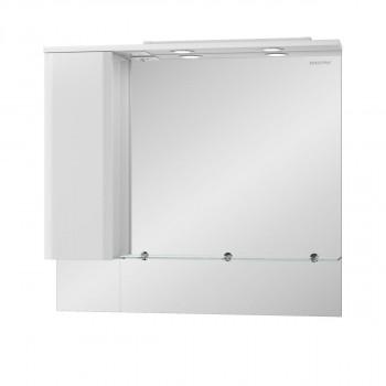 Шкаф зеркальный AMATA(АМАТА) 100 Edelform белый