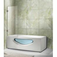 Стеклянная шторка 900х1500 на ванну OPORTO 604-1